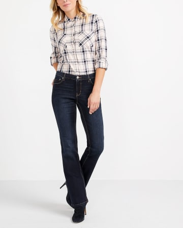The Insider Dark Wash Boot Cut Jeans