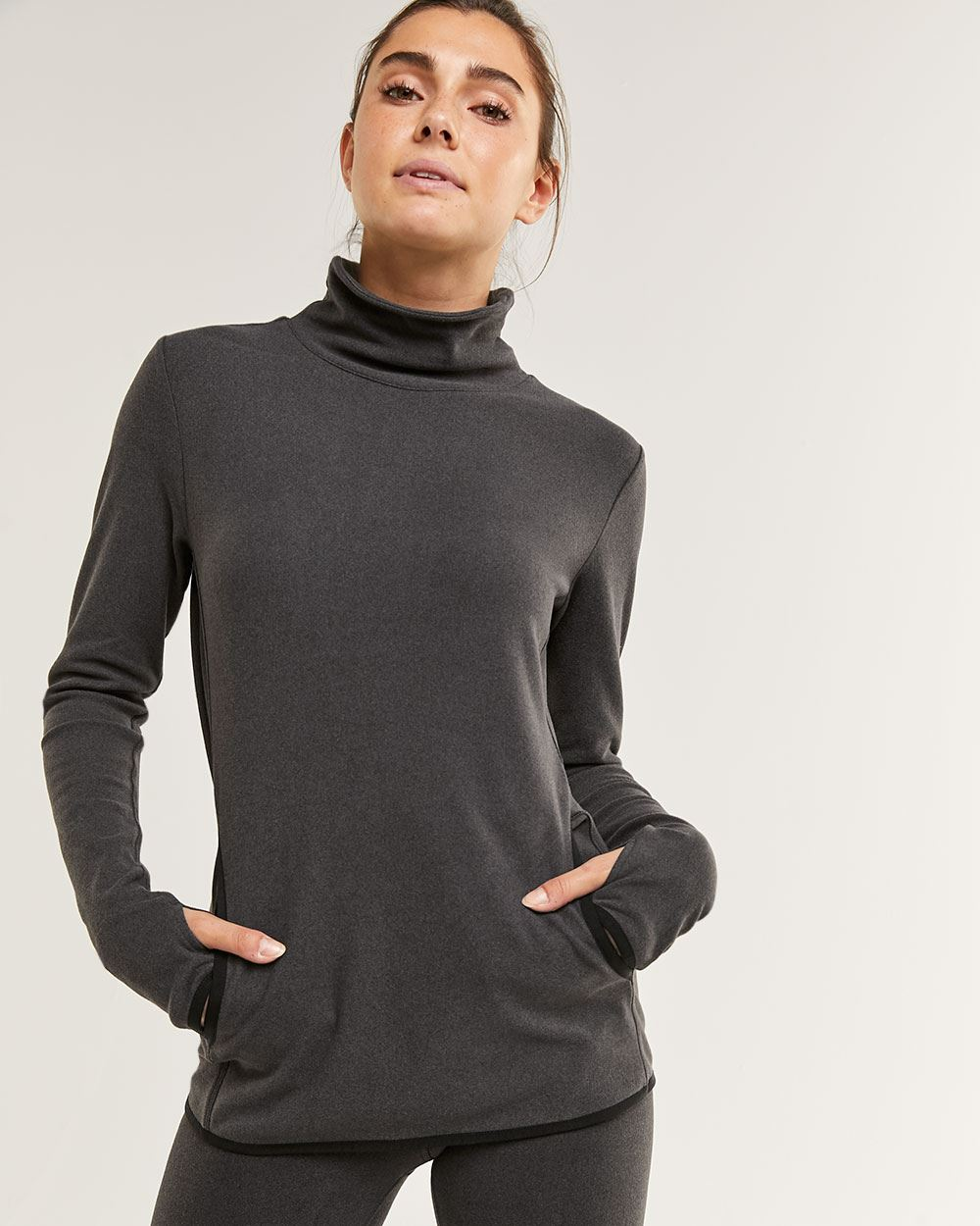 Long Sleeve Mock Neck Polar Top Hyba
