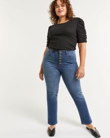 5-Button Fly Slim Ankle Jeans The Super High Rise