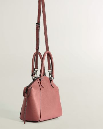 Satchel Bag with Saffiano Finish
