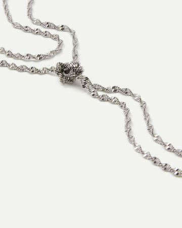 2-Row Long Twisted Necklace