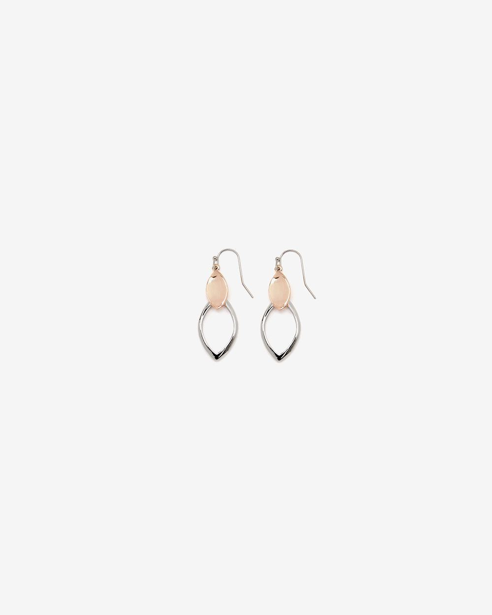 2-tone Drop Earrings