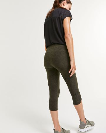 Printed Capri Leggings with Ruching Hyba