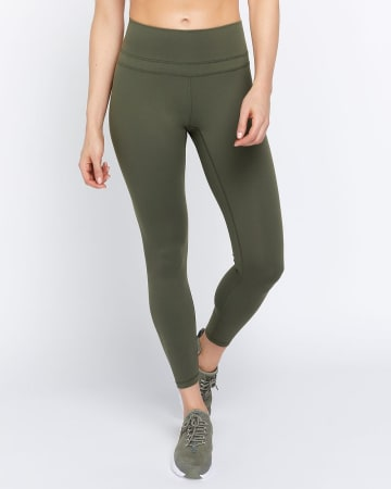 Hyba Solid Legging with Mesh Pocket