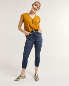 High Rise Cropped Jeans Signature Soft
