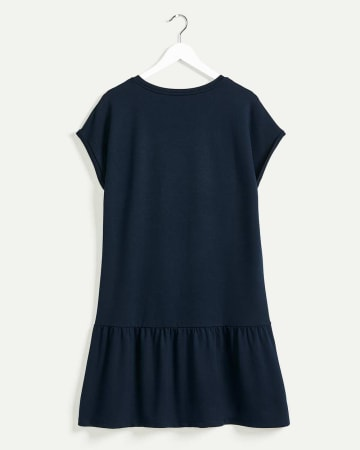 Short Sleeve Boat Neck French Terry Dress