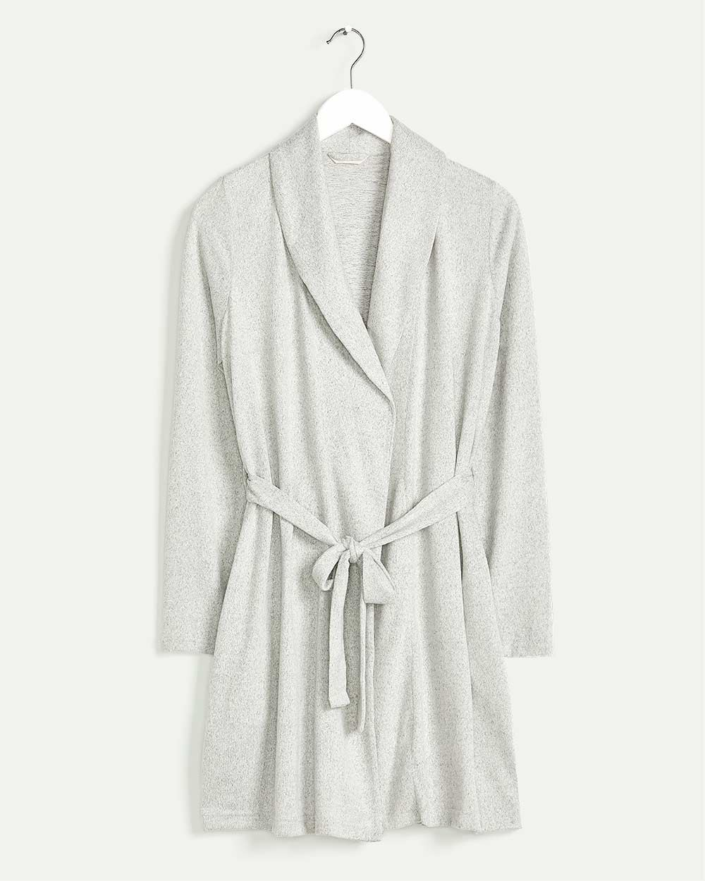 Brushed Knit Robe with Side Pockets