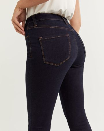 High Rise Dark Wash Skinny Jeans