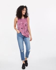 Sleeveless Printed Top - Petite