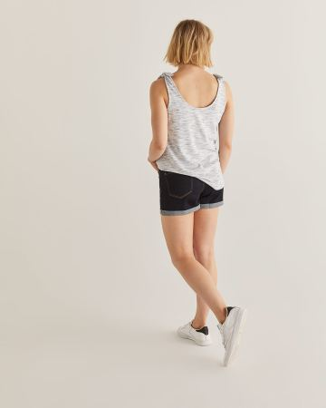 Knotted Shoulder Tank Top