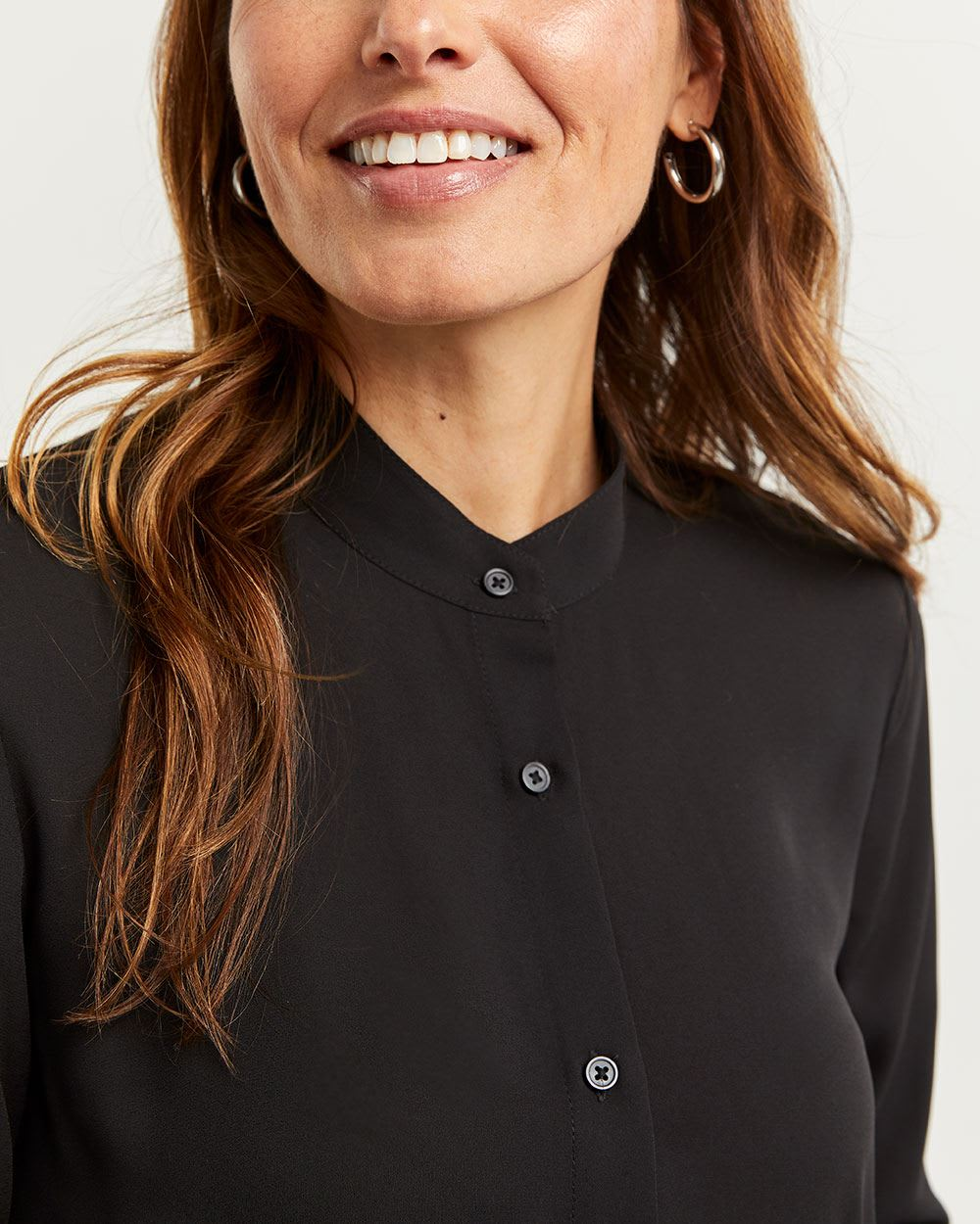 Long Sleeve Blouse with Pleats