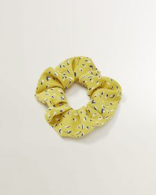 Speckled Yellow Scrunchie