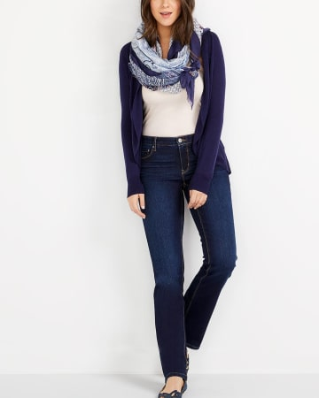 The Petite Insider Dark Wash Straight Leg Jeans