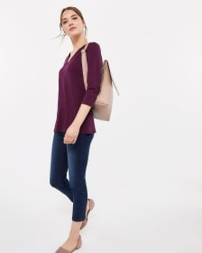Essential Solid Top with ¾ Sleeves