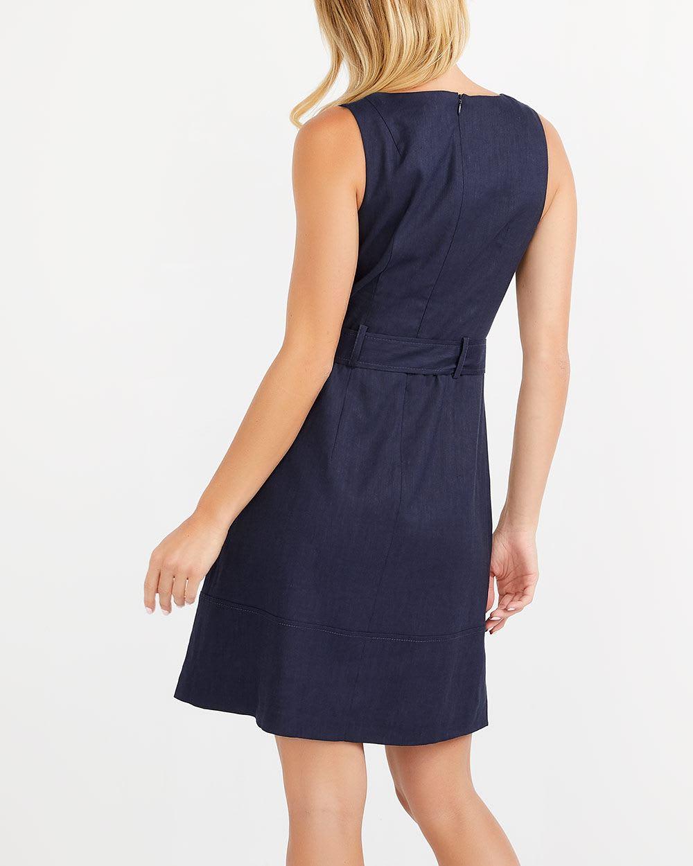 8b073ef732 Willow   Thread Belted Linen Blend Dress