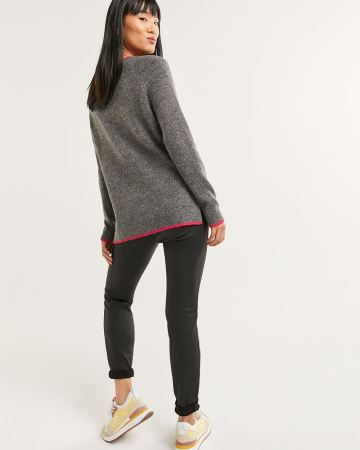 Long Sleeve Embellished Sweater