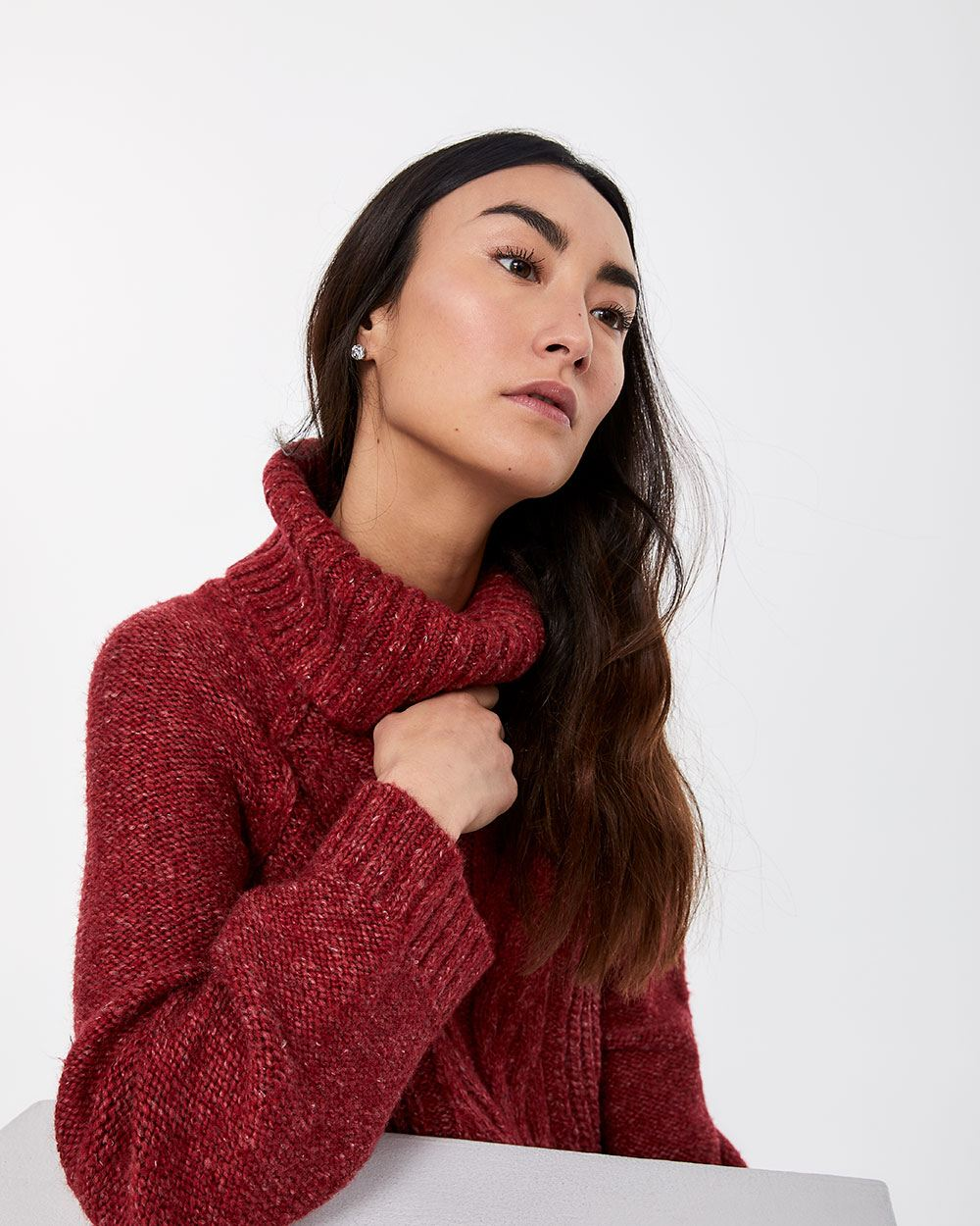 Pagode Sleeve Cowl Neck Sweater