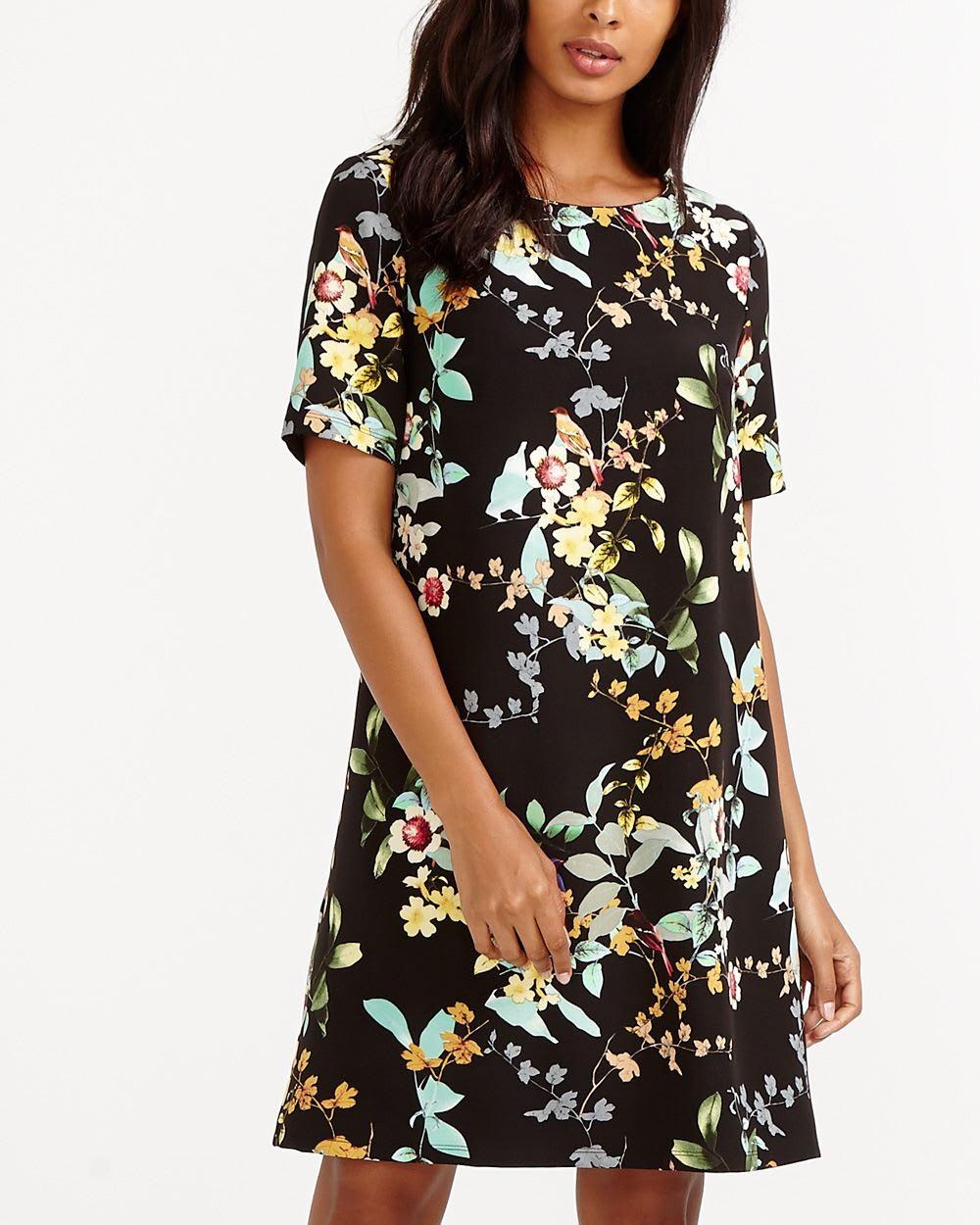 3bcca2f7e6e Short Sleeve Floral Dress