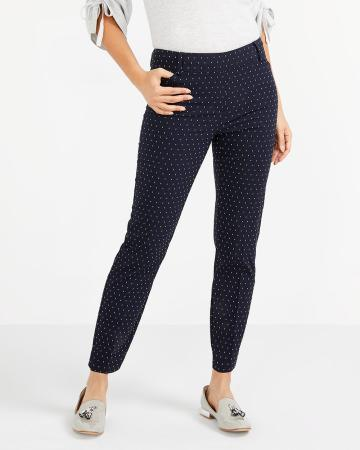 The Petite Iconic Polka Dot Ankle Pants