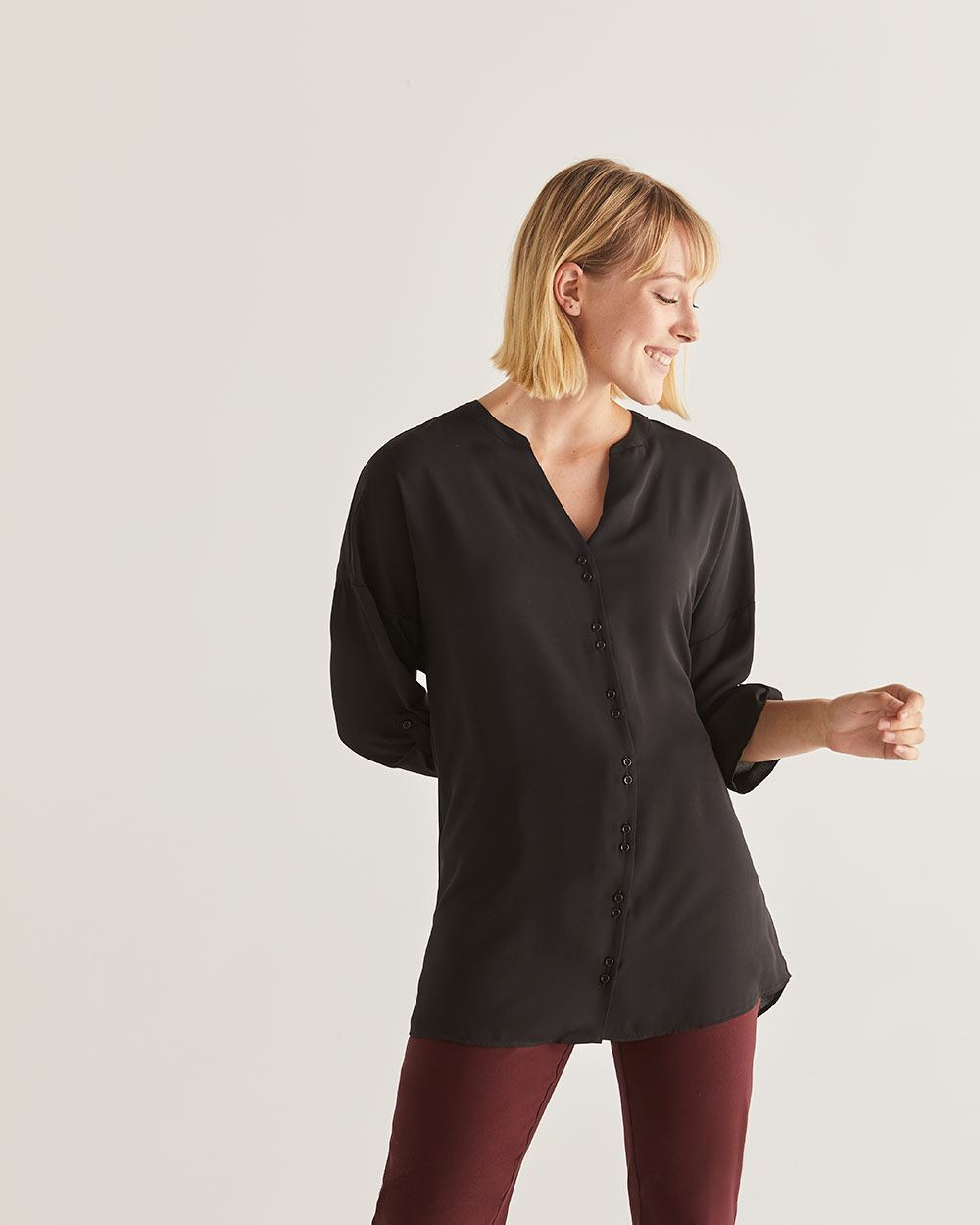 Double Button Placket Tunic