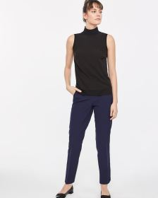Willow & Thread Sleeveless Mock Neck Blouse