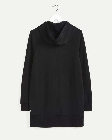 Fleece Hooded Tunic with Snaps Hyba