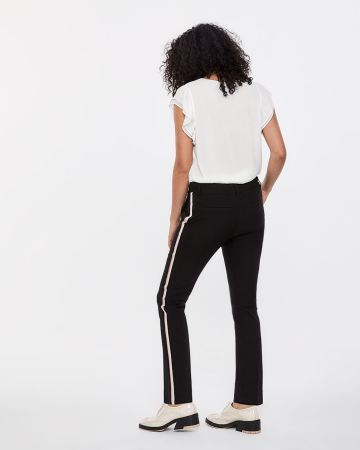 The Petite Iconic Straight Leg Pants with Contrasting Band