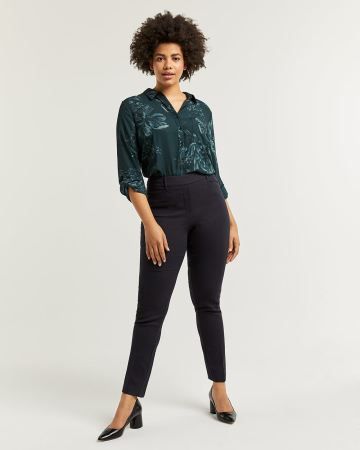The Iconic Jacquard Straight Pull On Pants - Petite