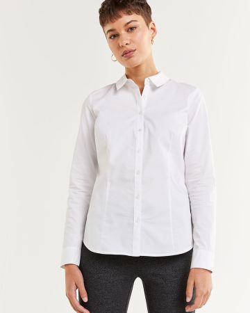 Long Sleeve Shirt Collar Blouse R Essentials