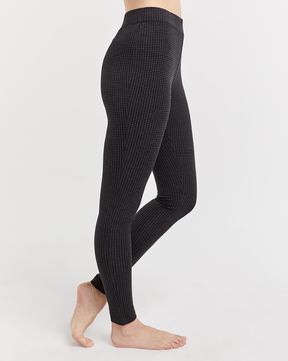 Houndstooth Black Leggings