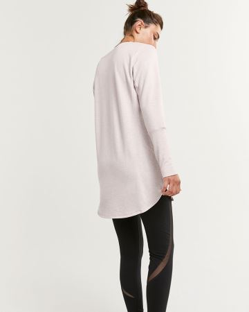 Long Sleeve V-Neck French Terry Tunic Hyba