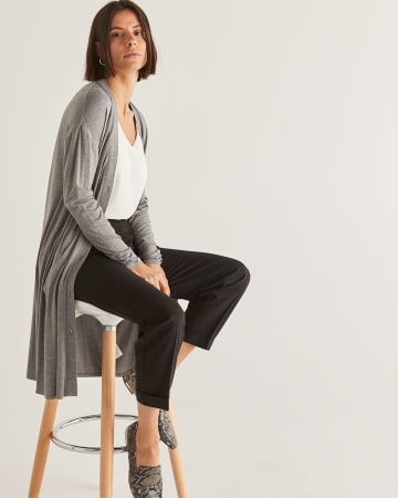 Buttoned-Down Long Cardigan