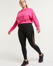 Cotton Blend Mesh Inserts Leggings Hyba