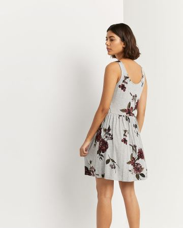 Fit & Flare Printed Sleeveless Dress