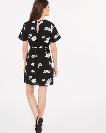 Sash Belt Floral Dress