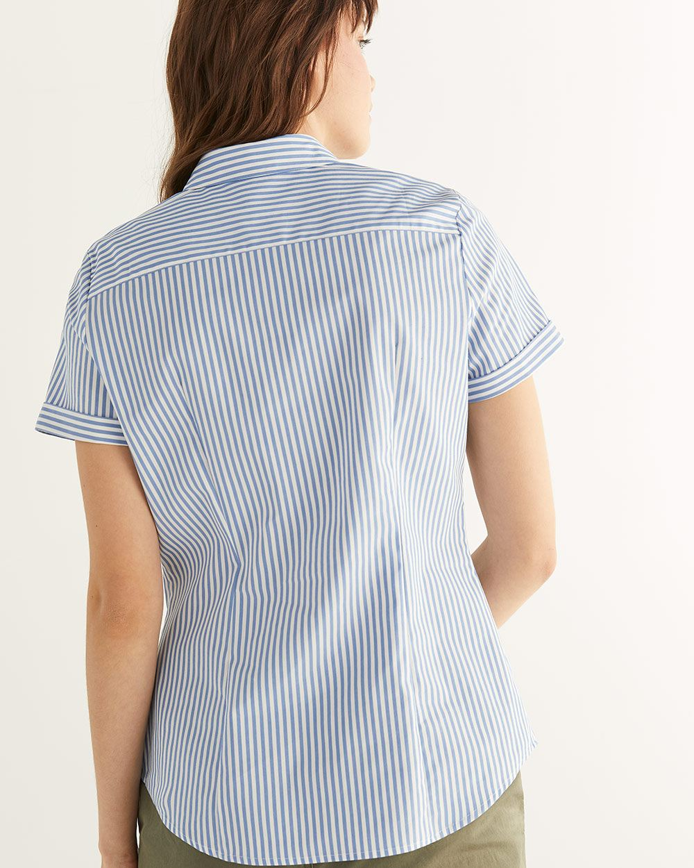 R Essentials Short Sleeve Poplin Shirt