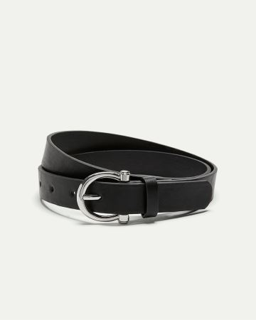 Faux Leather Belt with Delicate Buckle