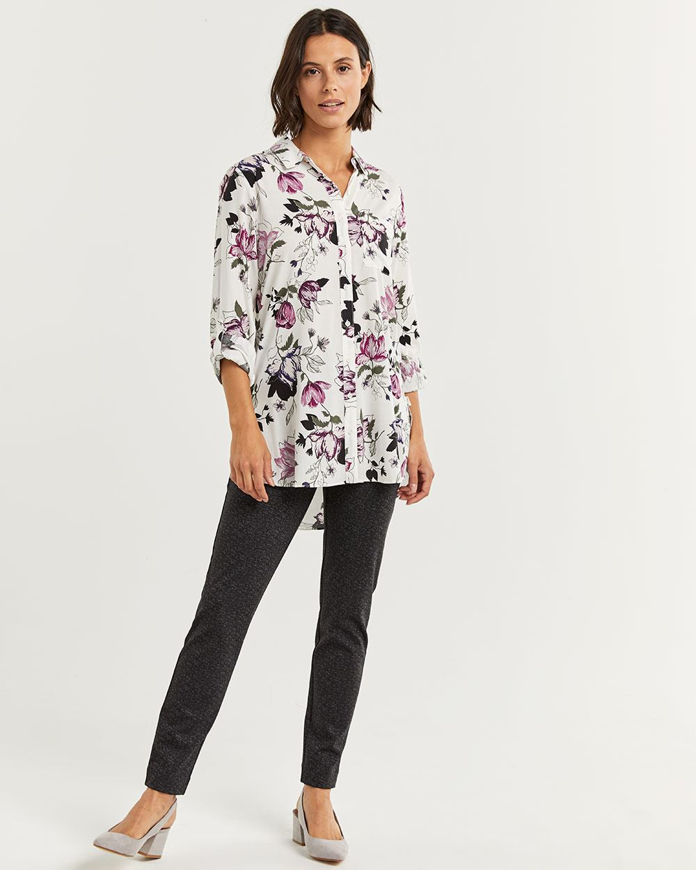 Printed Long Sleeve Tunic - Petite