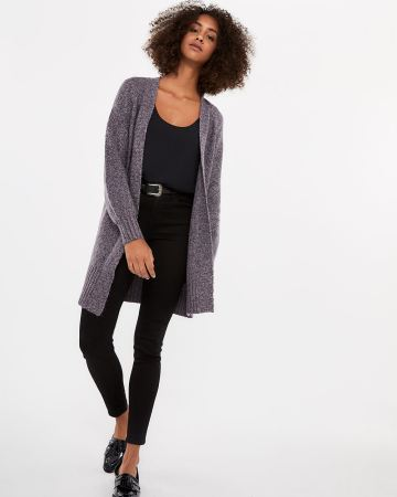 Balloon Sleeve Open Cardigan