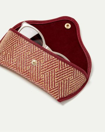 Straw Sunglasses Case