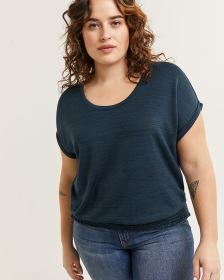 Short Sleeve Scoop Neck Tee