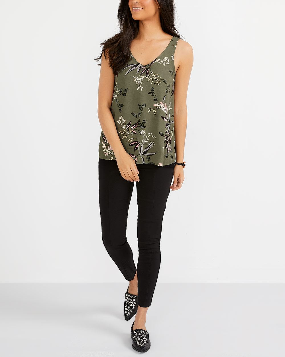 R Essentials Printed Reversible Cami
