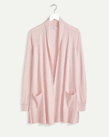 Long Sleeve Folded Collar Cardigan