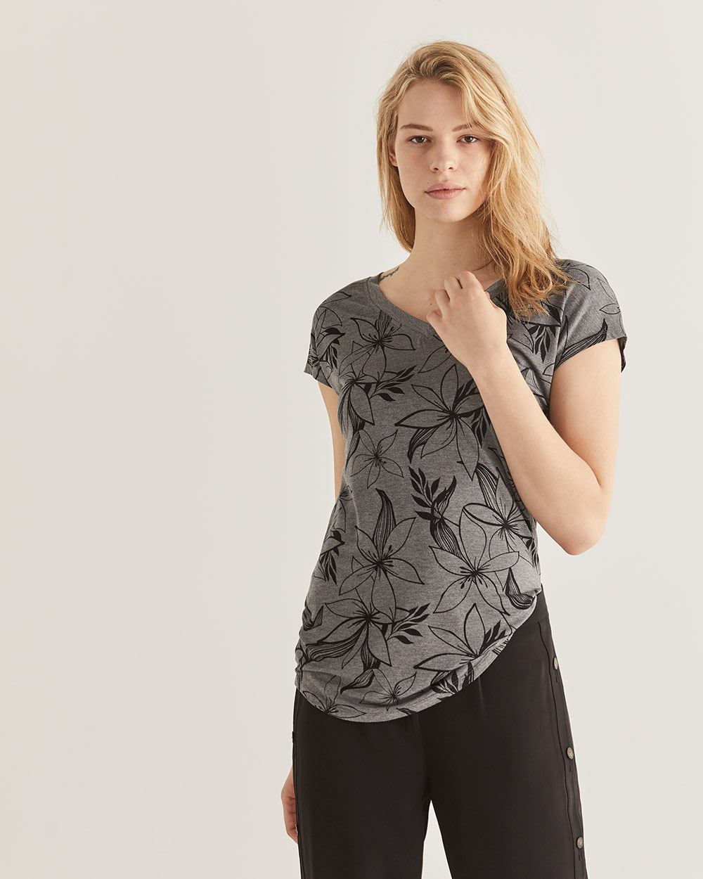 Printed Tunic Length Tee