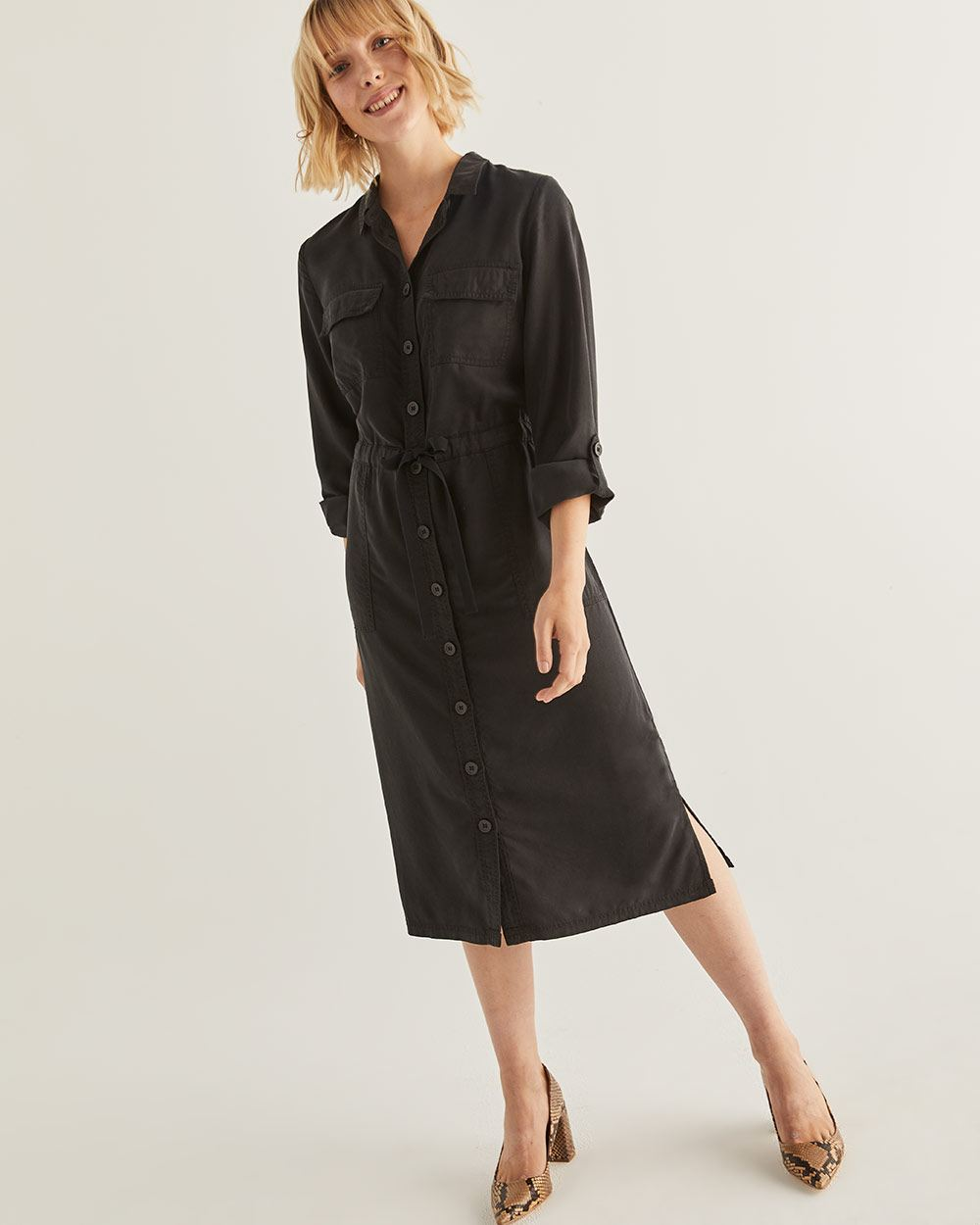 Midi Dress with Pockets