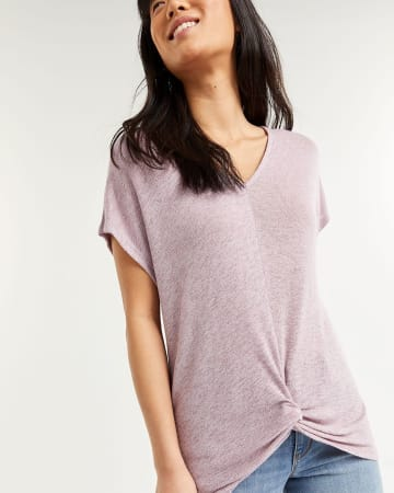 Short Sleeve Tee with Front Twist