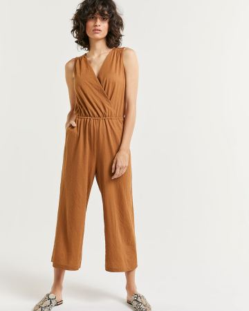 Sleeveless Wide Cropped Jumpsuit