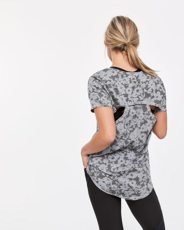 Hyba Short Sleeve Tee with Back Cutouts