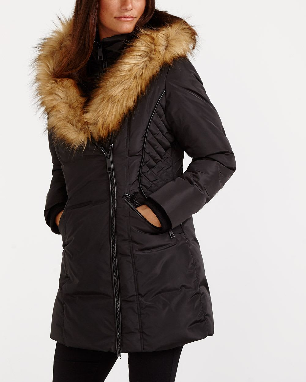 454fc0f04c Faux Fur Collar Winter Coat | Women | Reitmans