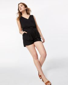 Sleeveless Wrap Romper